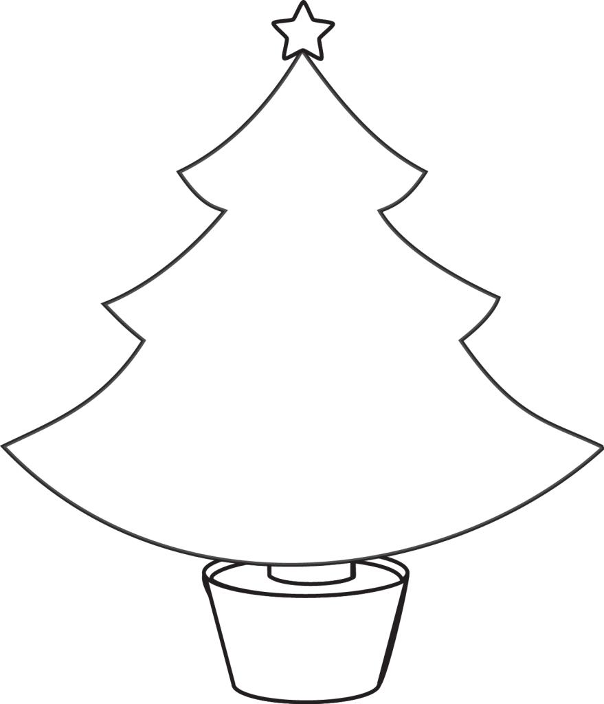 christmas tree outline clipartioncom coloring home