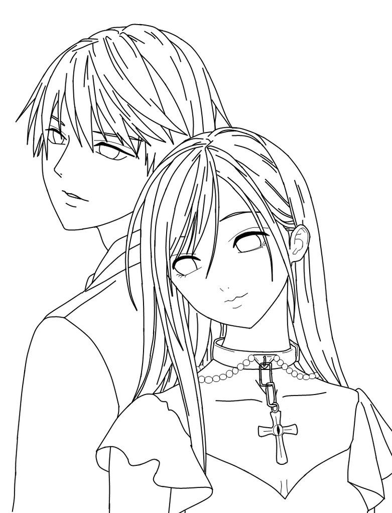 Coloring Pages Vampire : Rosario vampire coloring pages home