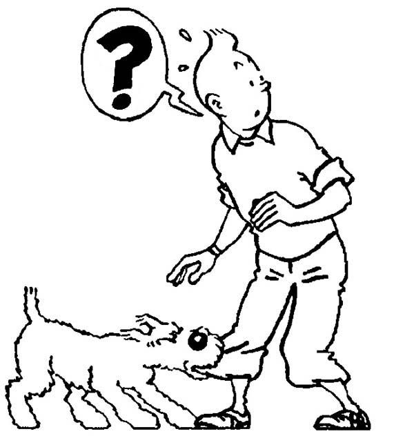 Snowy Bite Tintins Pants In The Adventures Of Tintin Coloring Page