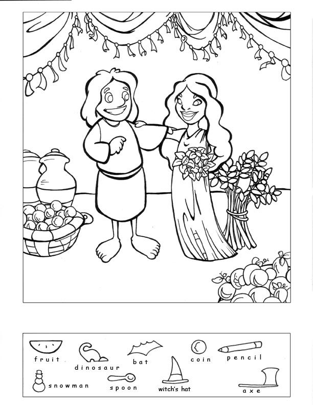 Boaz And Ruth Coloring Pages - Coloring Home