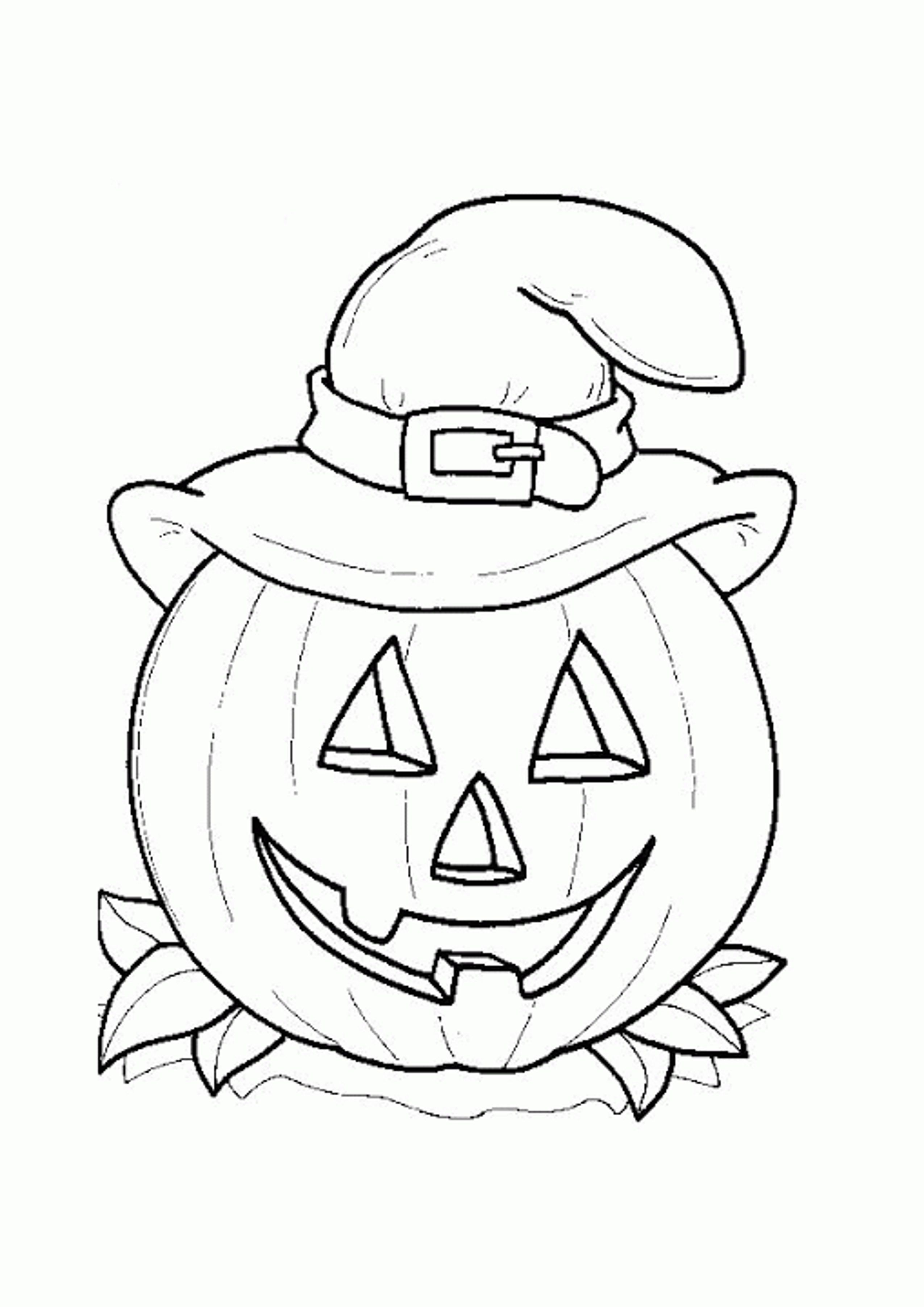 Pumpkin Coloring Pages For Preschool