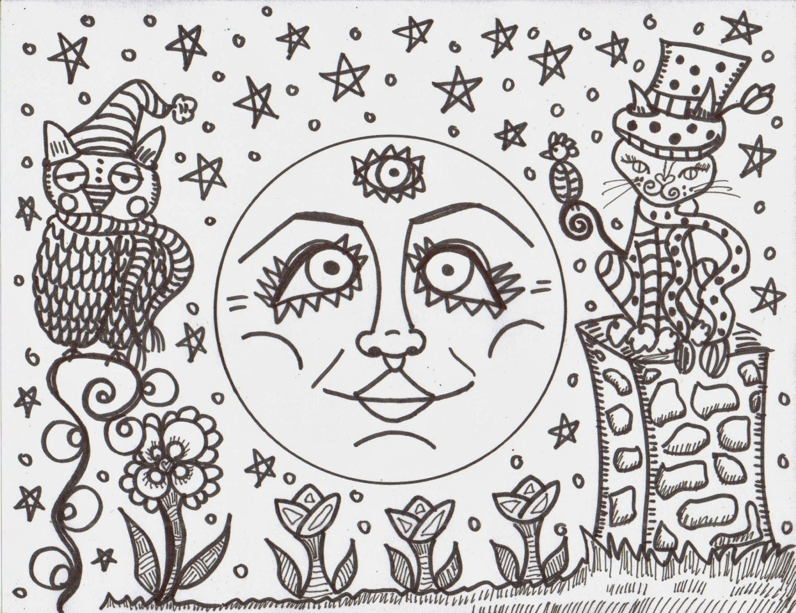 Hippie Coloring Pages 16 Pictures