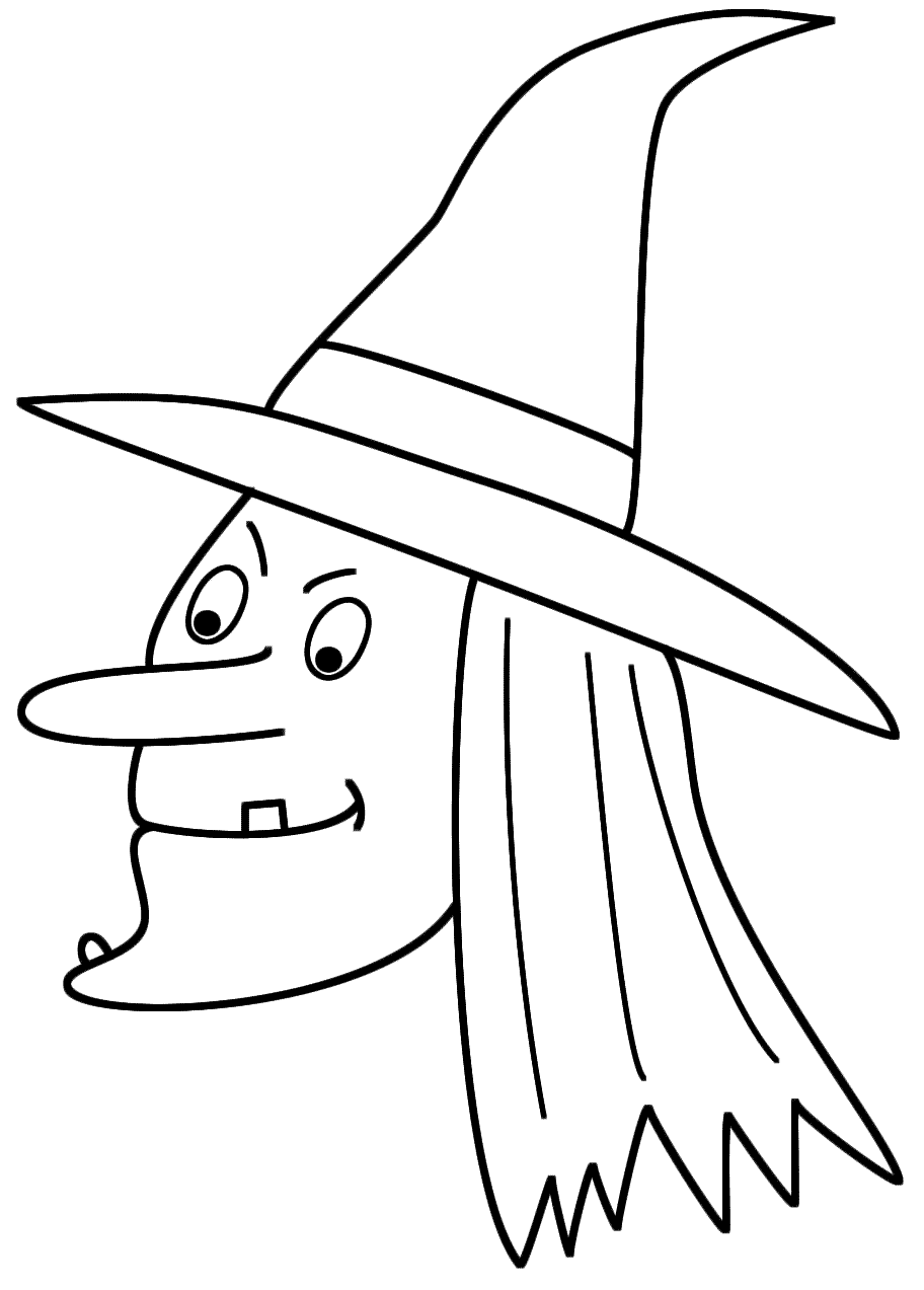 Coloring Pages Halloween Witch - Coloring Home