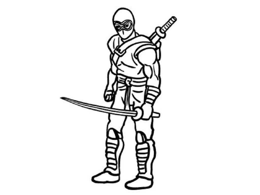 Ninja coloring pages free printable coloring home for Coloring pages of ninjas