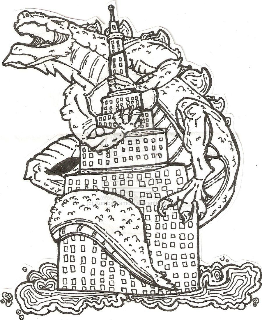 godzilla coloring pages - photo#21