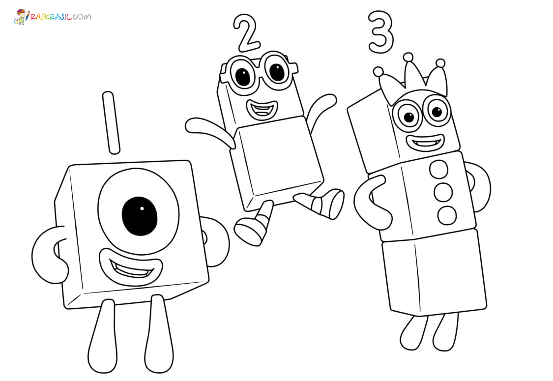 Numberblocks Coloring Pages - Coloring Home