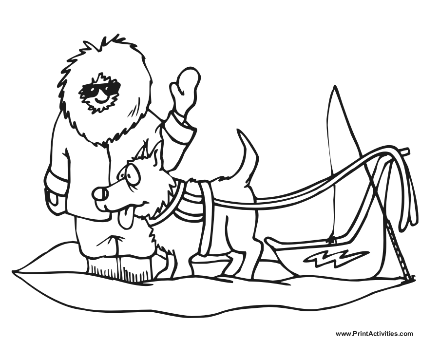 Dog Sled #142625 (Transportation) – Printable coloring pages