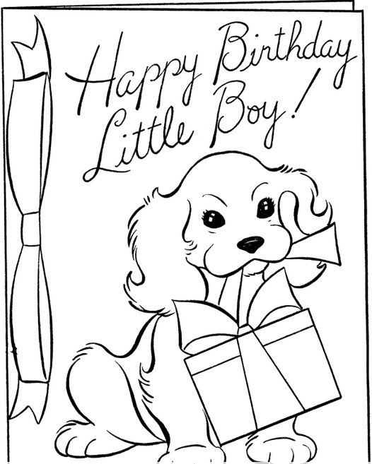 Happy Birthday Boy Coloring Page coloring page & book for kids.