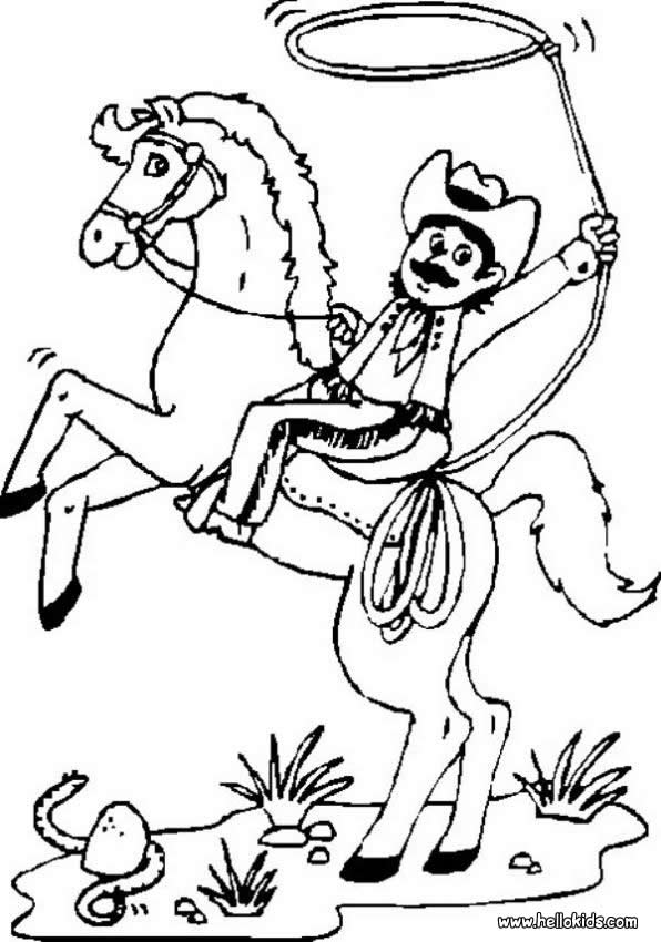 COWBOY coloring pages - Wild West