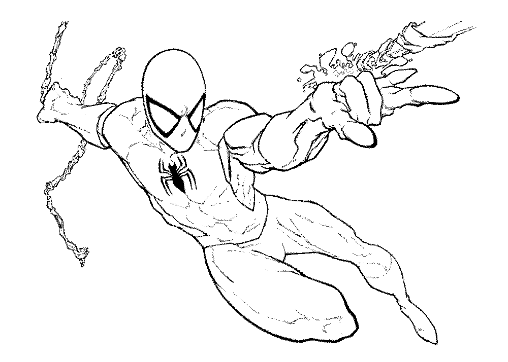 Spiderman And Venom Coloring Page - Coloring Home