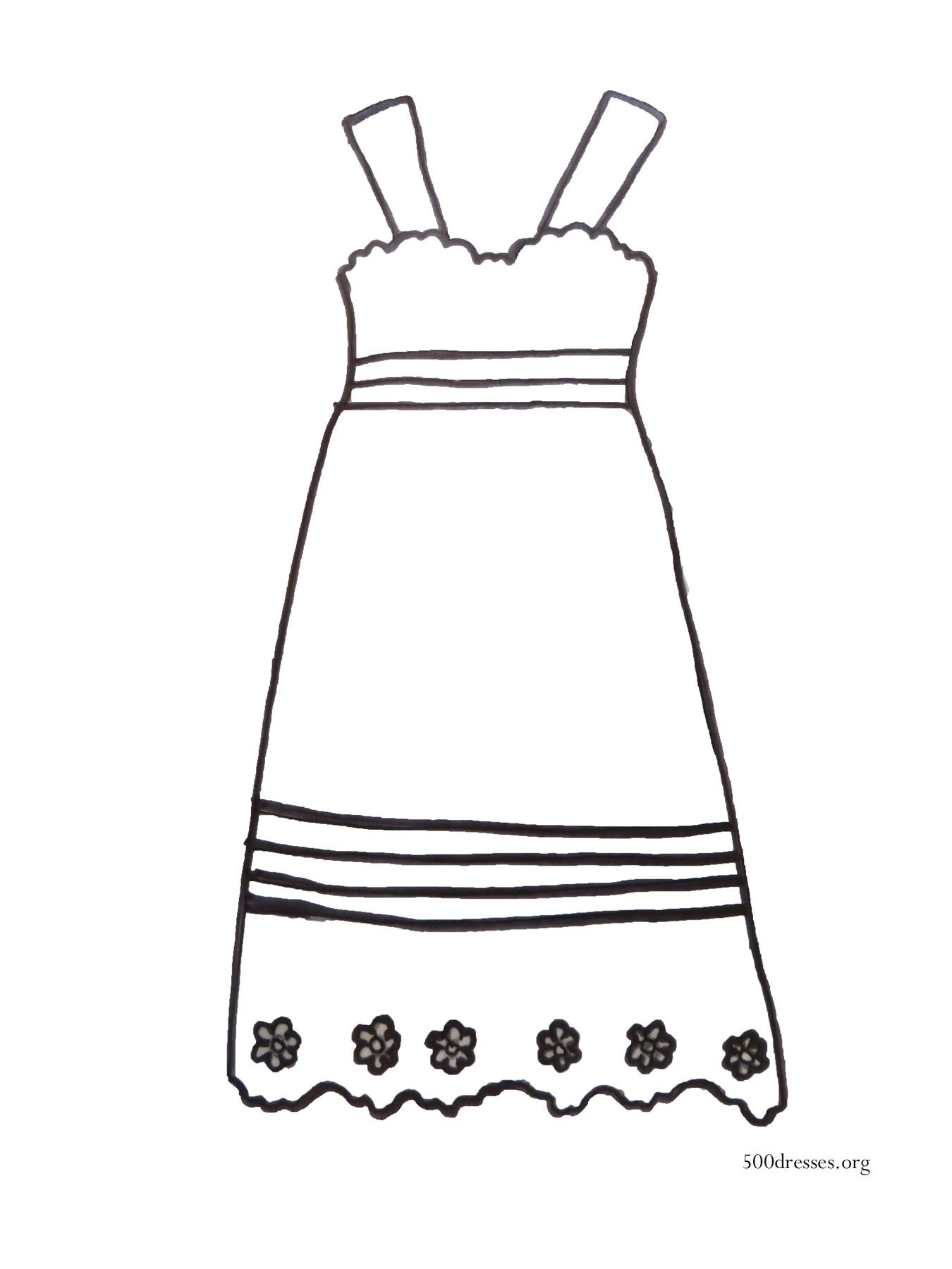 Coloring Pages Dress