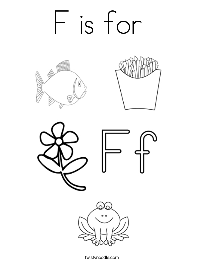 F Is For Coloring Page - Coloring Home