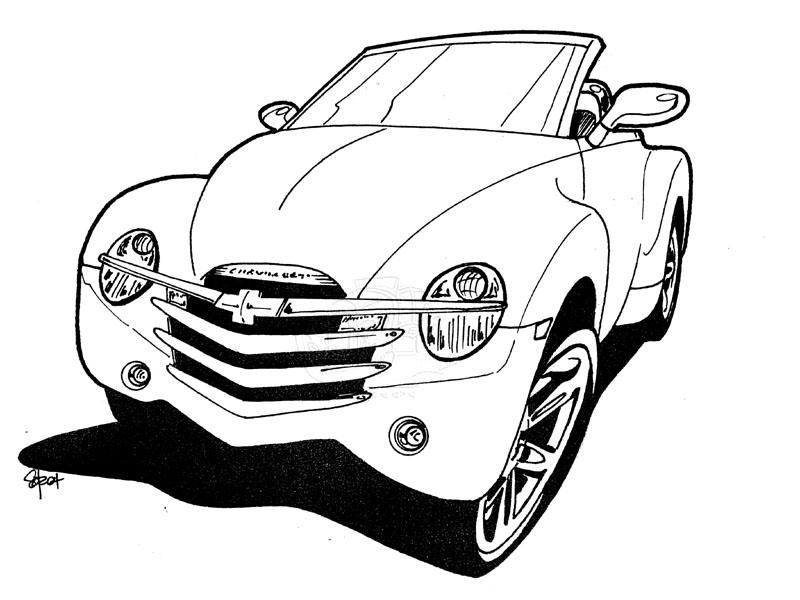Chevy Camaro Coloring Page