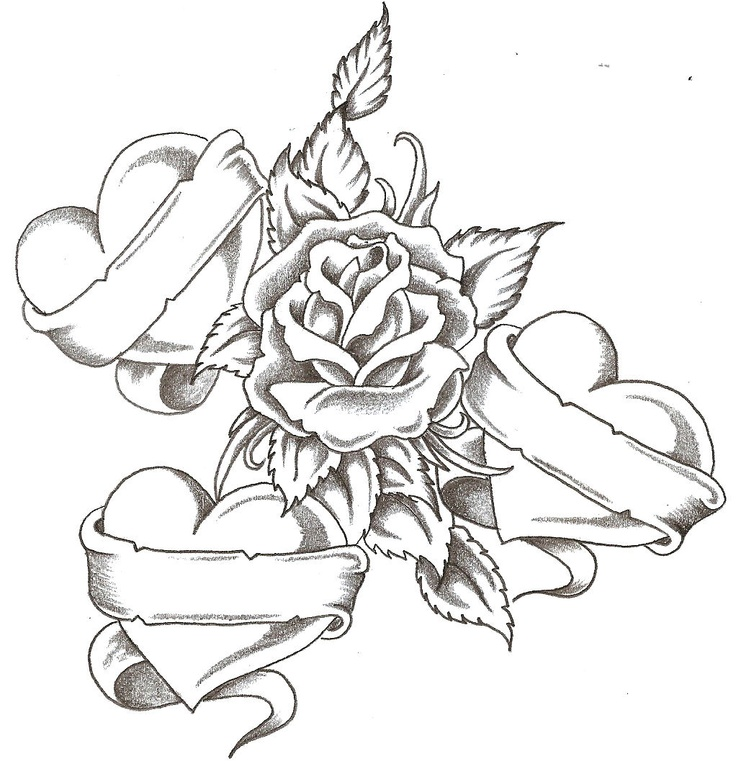 cool heart coloring sheets free heart rose coloring i love