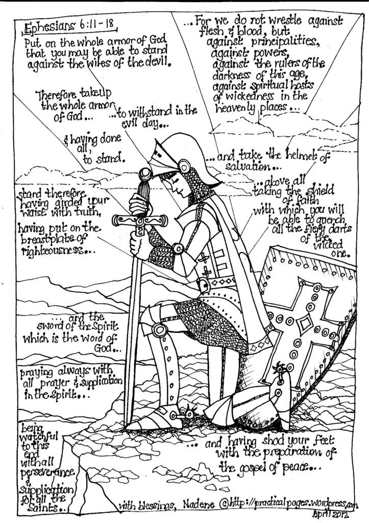 Coloring Pages: The Whole Armor Of God For Kids Armor Of God ...