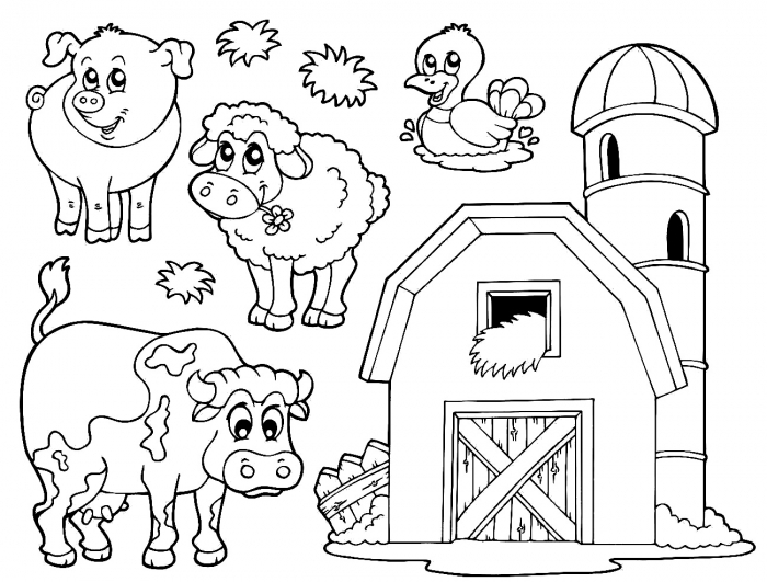 Izxplgdt on zoo scene coloring page
