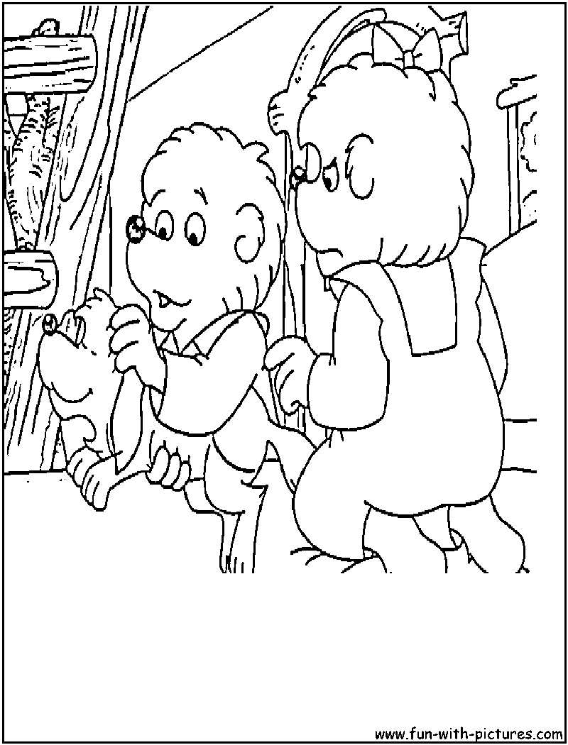 The berenstain bears coloring pages coloring home for Berenstain bears coloring pages