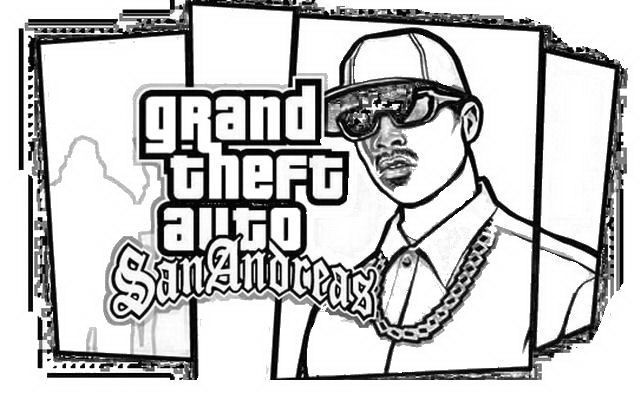 2349238414 GTA 5 Coloring Pages for Boys e1543970395790 ...