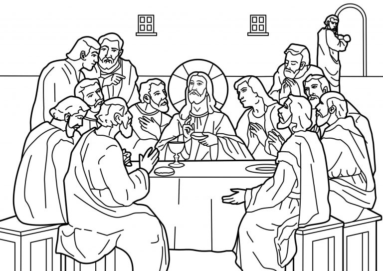 Download The Last Supper Coloring Page | Ziho Coloring