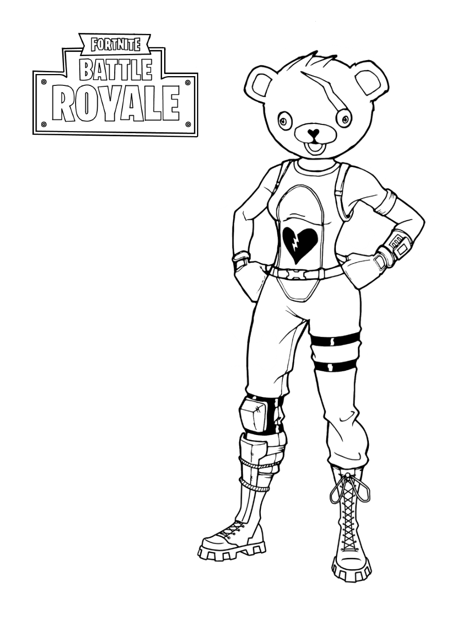 Fortnite Coloring Pages | Bear coloring pages, Coloring ...
