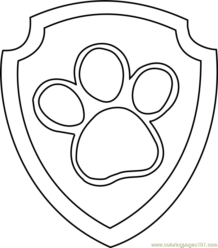 Ryder Badge Coloring Page - Free PAW Patrol Coloring Pages ...