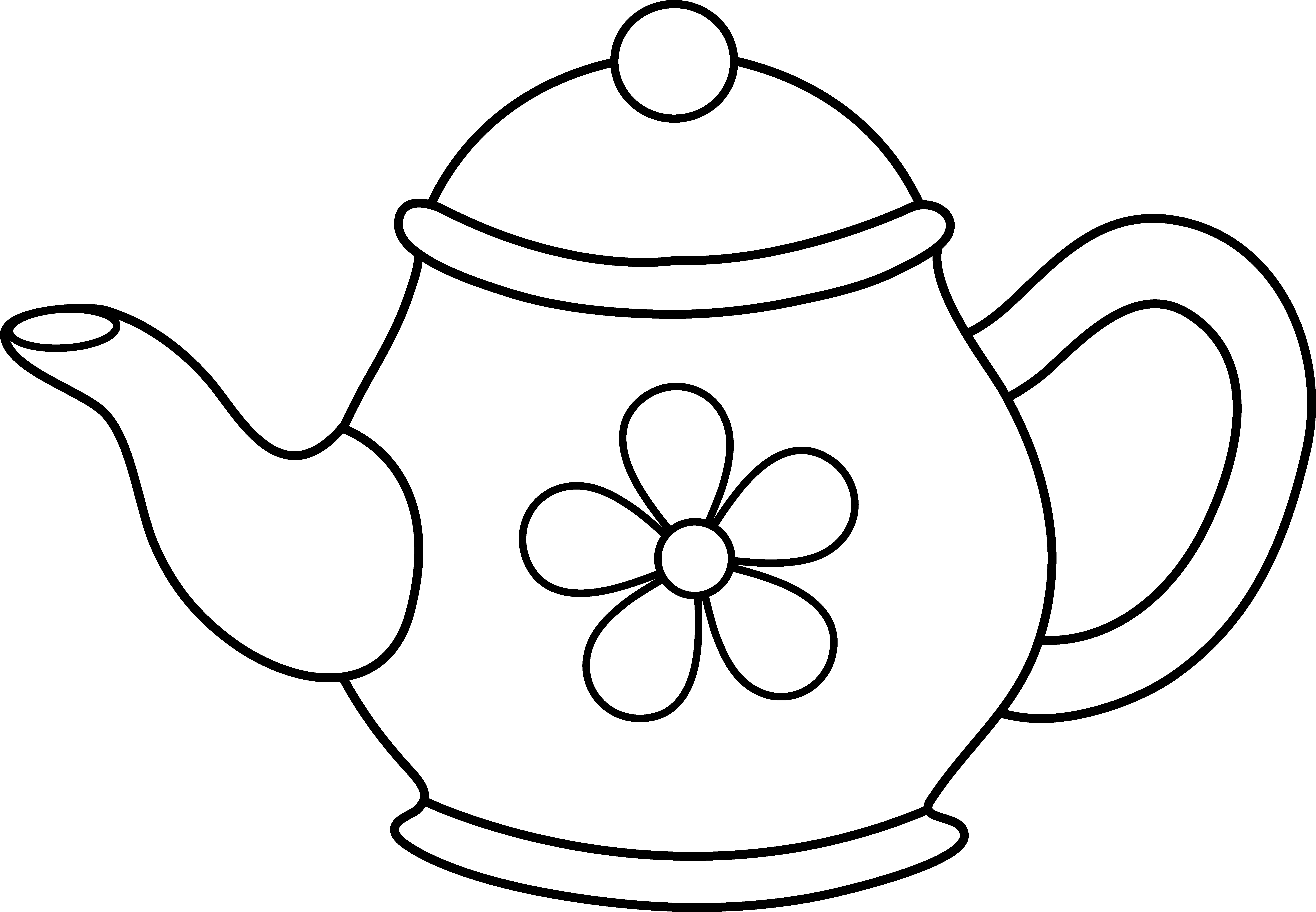 teapot printable coloring pages | Printable Teapot Coloring Pages - Coloring Home