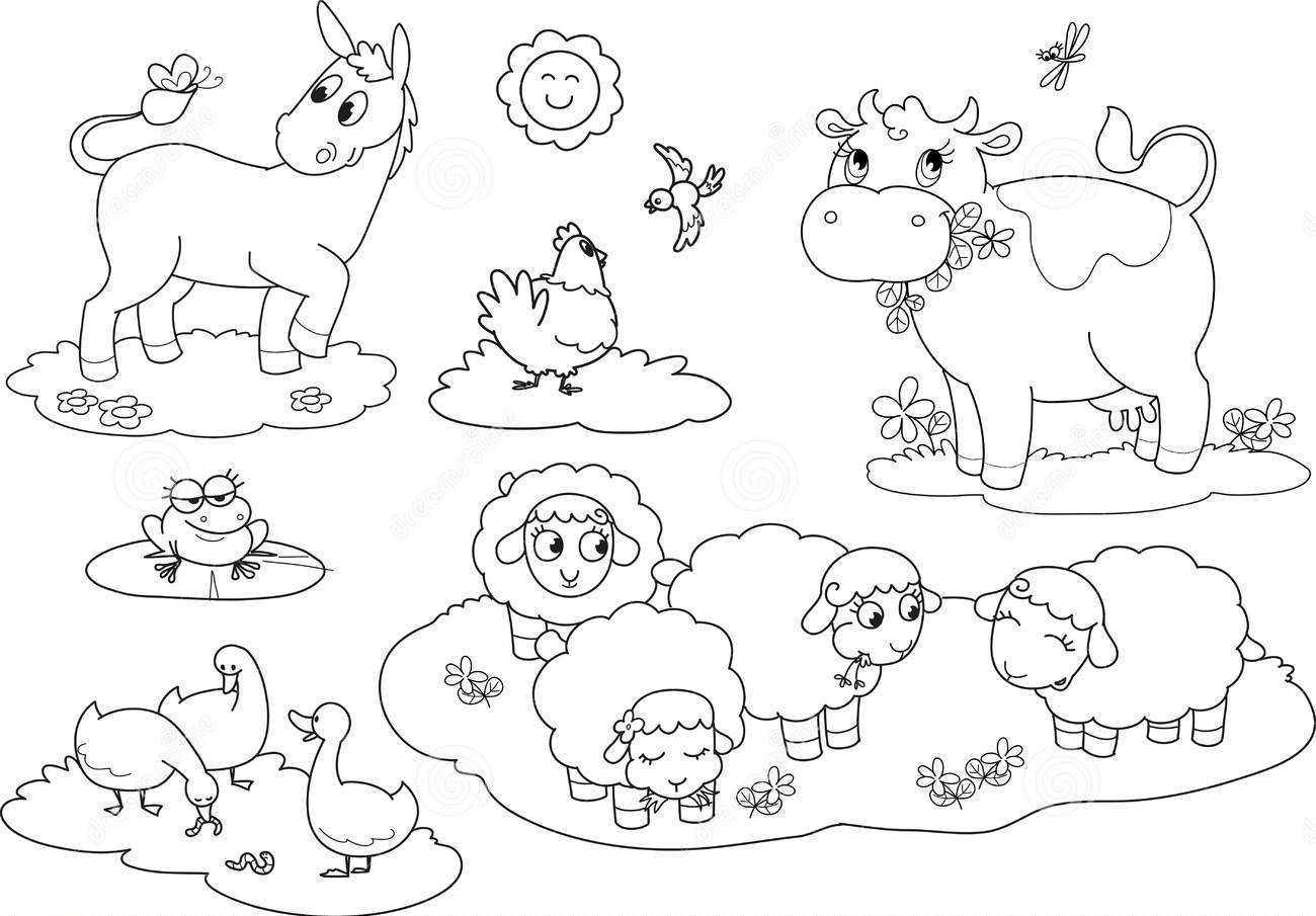 animal homes coloring pages | Farm Animals Coloring Pages And Activity Sheets - Coloring ...