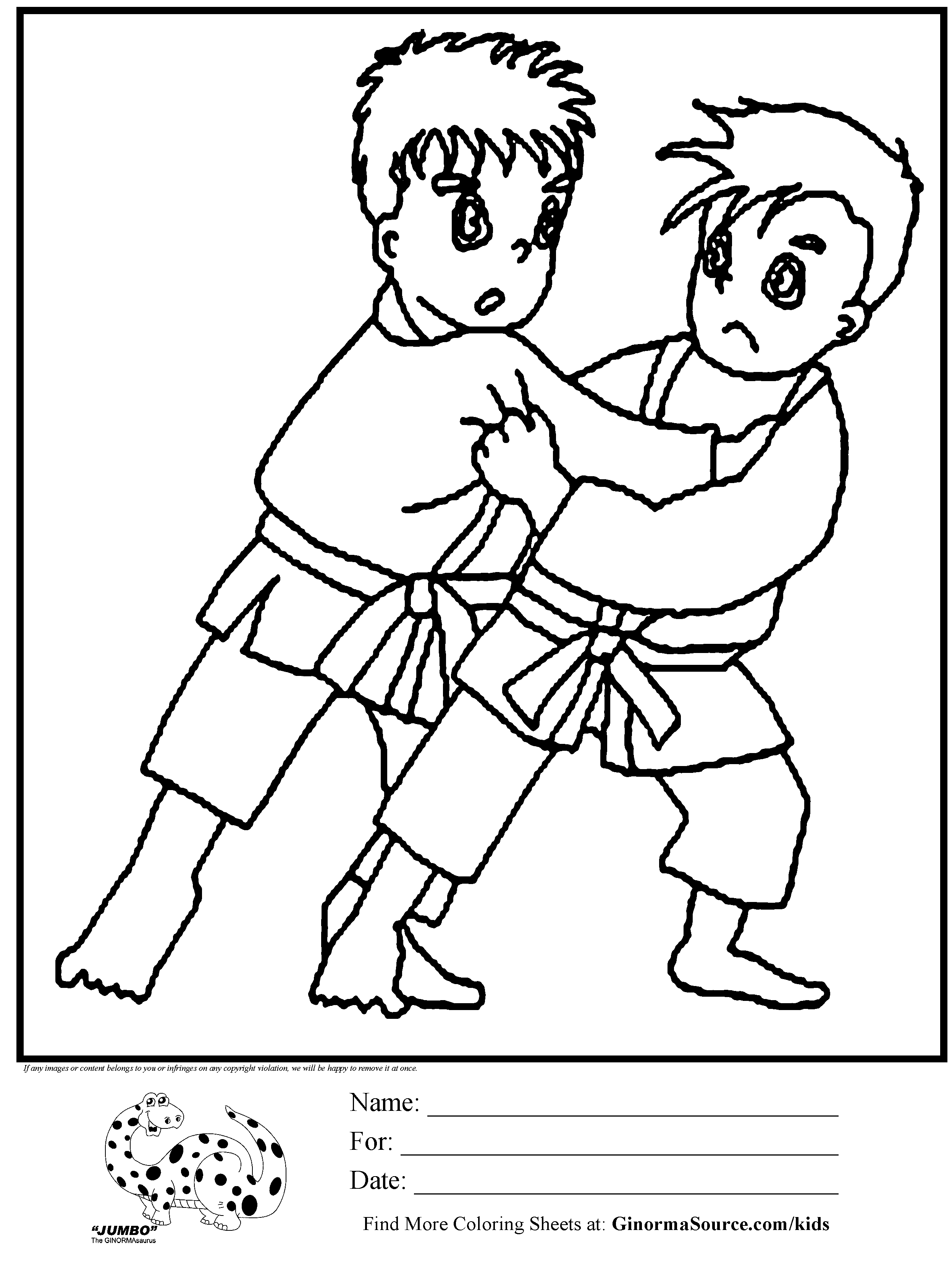 karate coloring pages for kids worksheets pinterest coloring