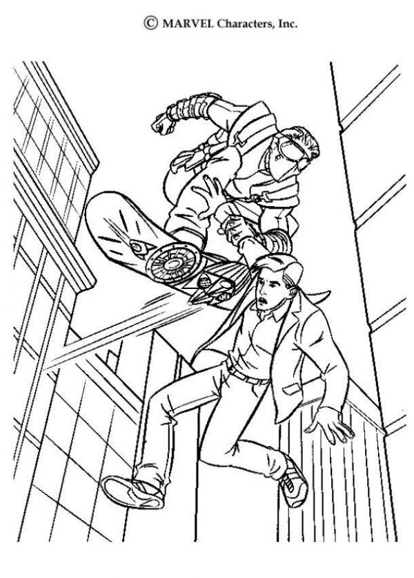 Green Goblin Coloring Pages Free - AZ Coloring Pages