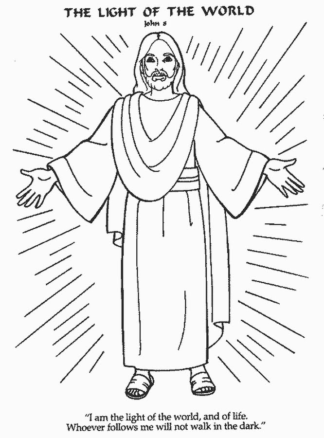 Jesus Is The Light Of The World Coloring Page