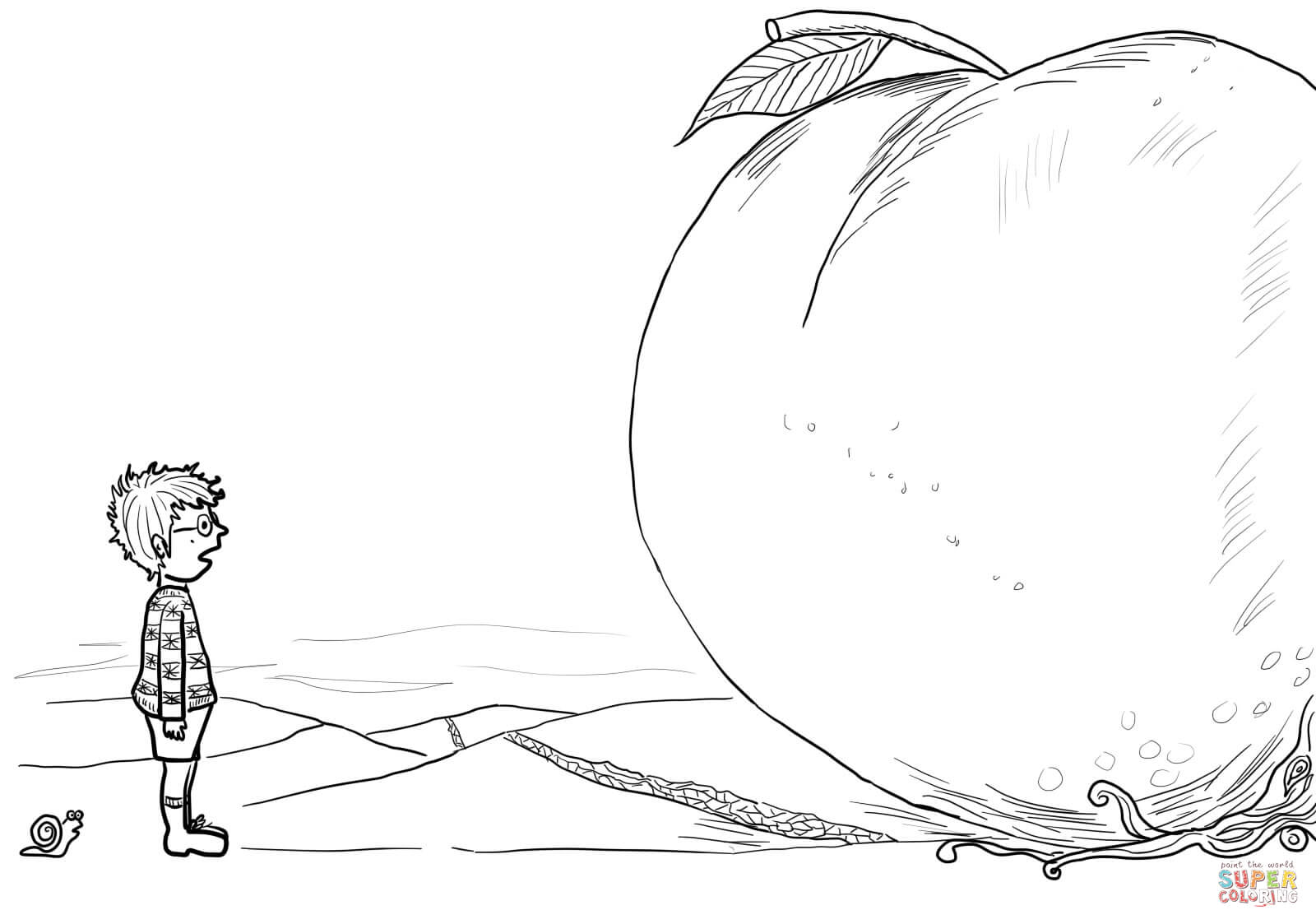 coloring pages james and the giant peach coloring home
