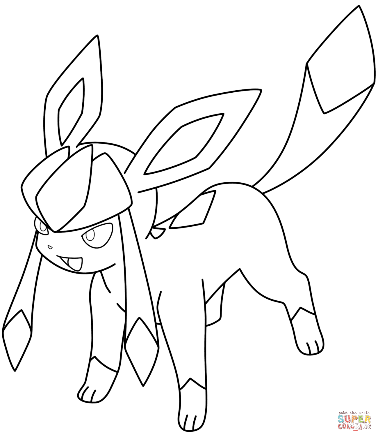 Glaceon Pokemon Coloring Page Coloring Home