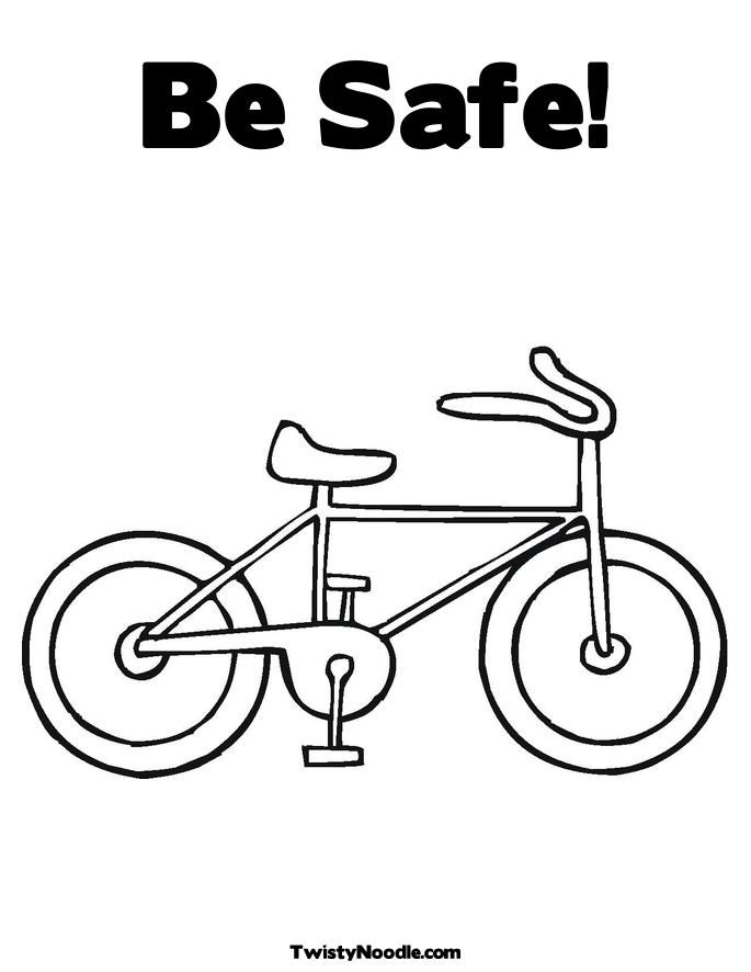 It's just a graphic of Eloquent Bike Safety Coloring Pages