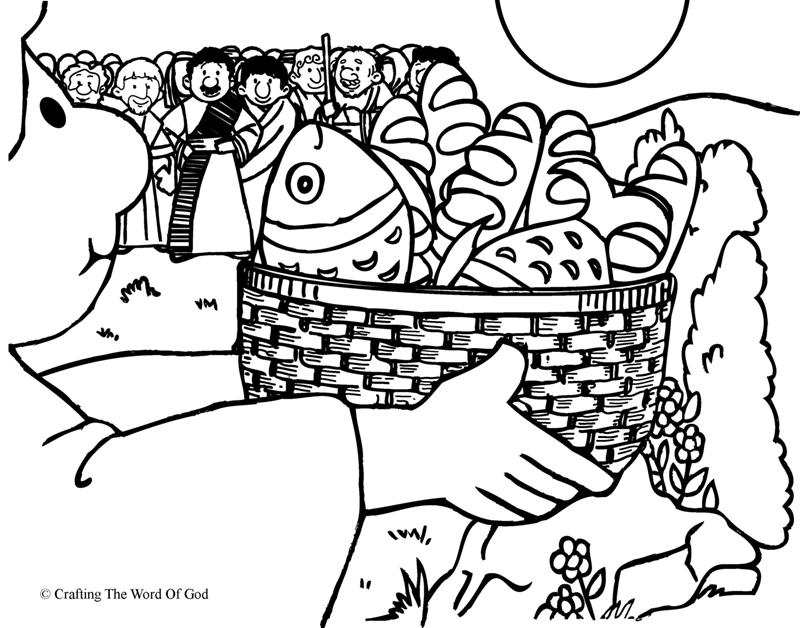 This is a graphic of Terrible Free Bible Coloring Pages Loaves And Fishes
