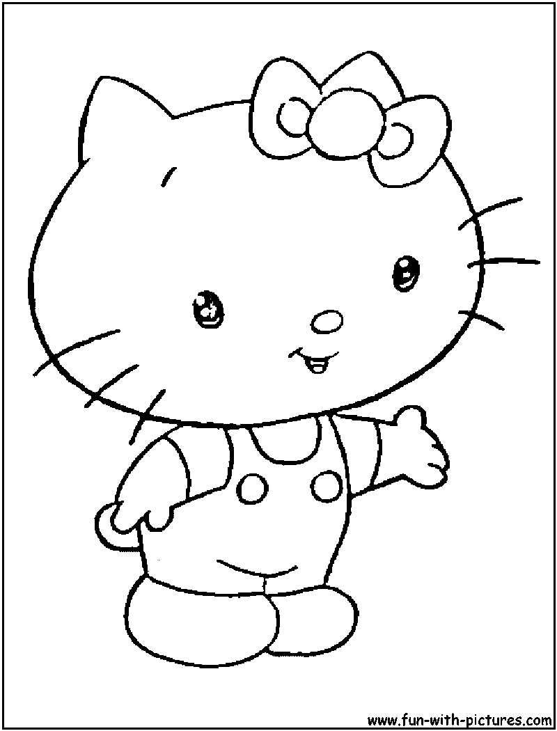baby cat coloring pages - photo#34