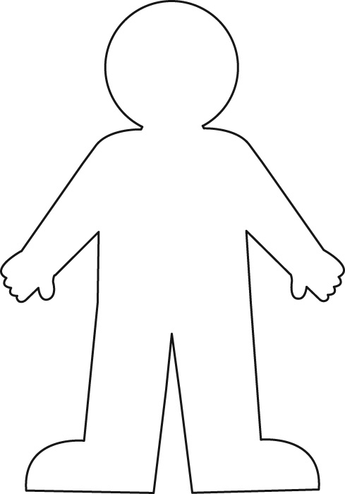 Person Outline Coloring Page Az Coloring Pages Person Coloring Page