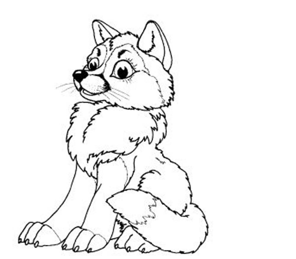 Baby wolves coloring pages az coloring pages for Coloring page of a wolf