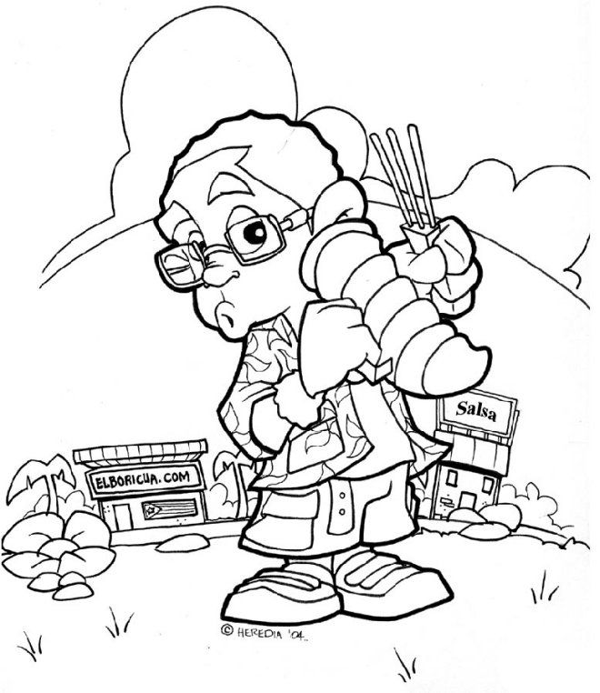 Free Puerto Rico Coqui Coloring Pages