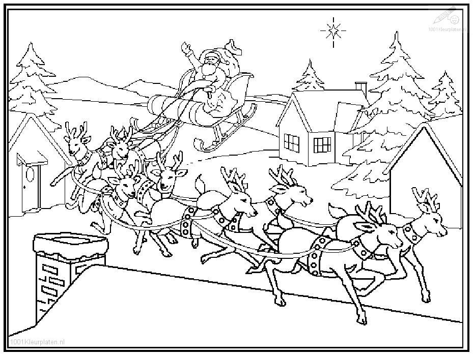 santa sleigh coloring pages az coloring pages. Black Bedroom Furniture Sets. Home Design Ideas
