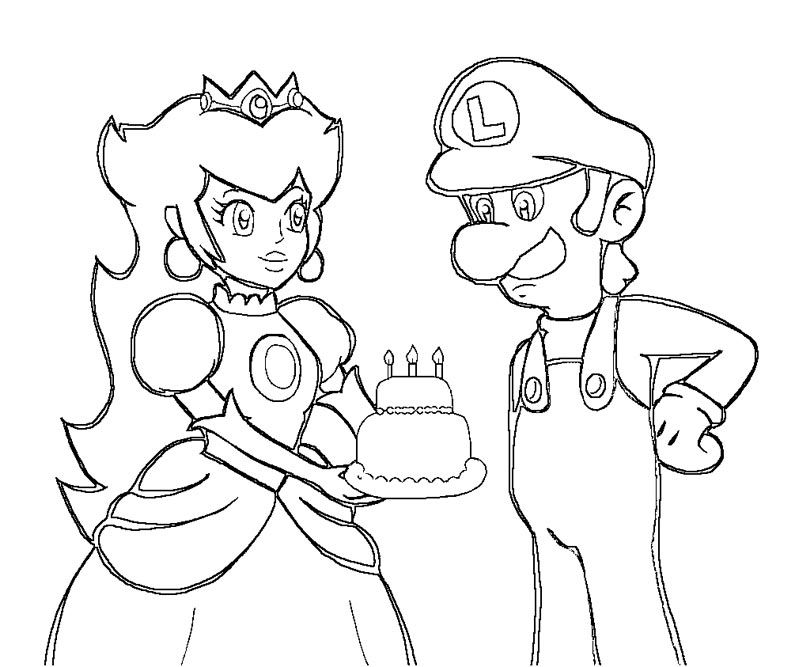 princess peach coloring pages printable - coloring pages luigi and princess peach az coloring pages