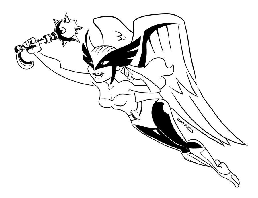 Hawkgirl Coloring Pages Coloring Home