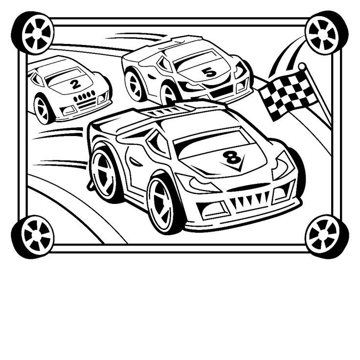 Racing cars coloring pages az coloring pages for Race car color page