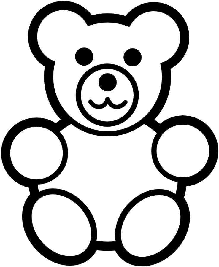 Teddy bear coloring page az coloring pages for Coloring page teddy bear