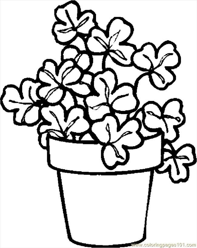 Printable shamrock coloring pages coloring home for Clover coloring pages printable