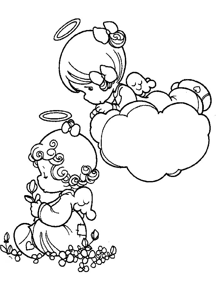 Precious moments angels coloring pages az coloring pages for Precious moments angel coloring pages
