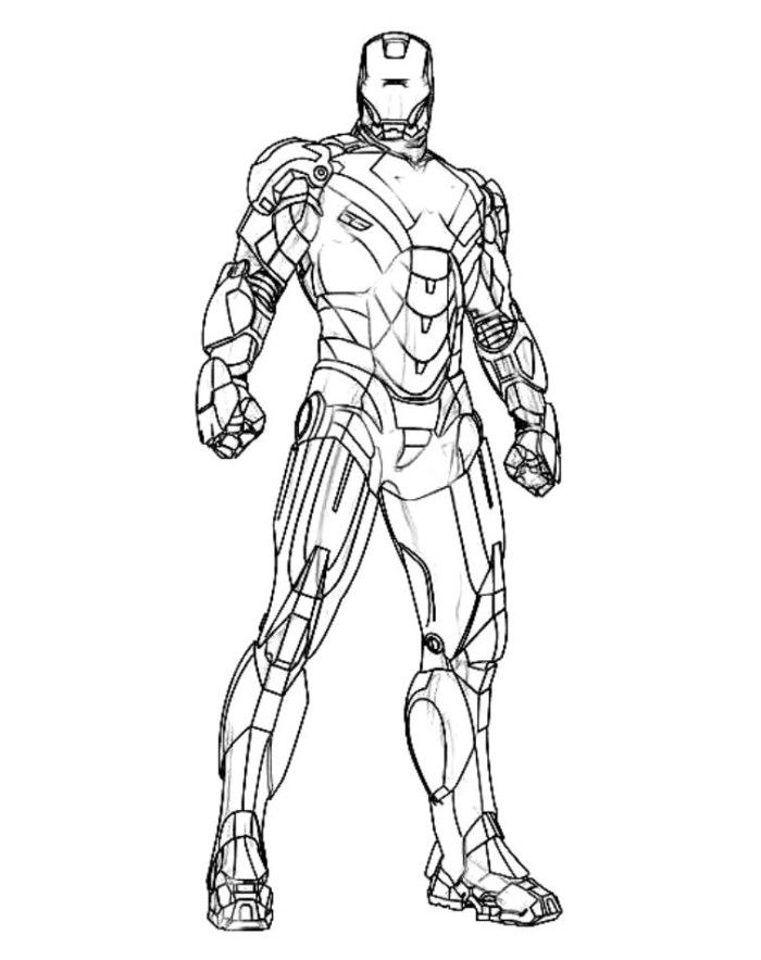 Lighting Palm Iron Man Coloring Pages - Superheroes Coloring Pages ...