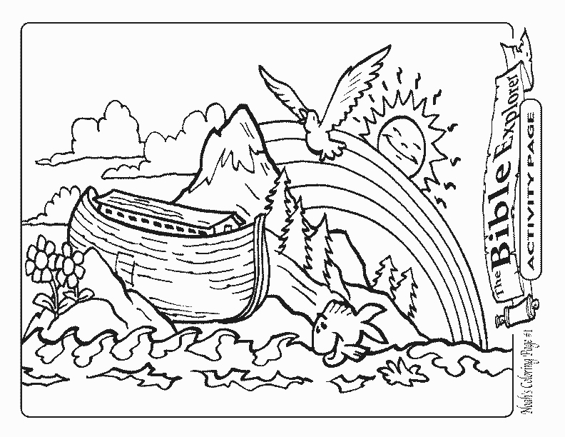 noahs ark coloring pages story - photo#23