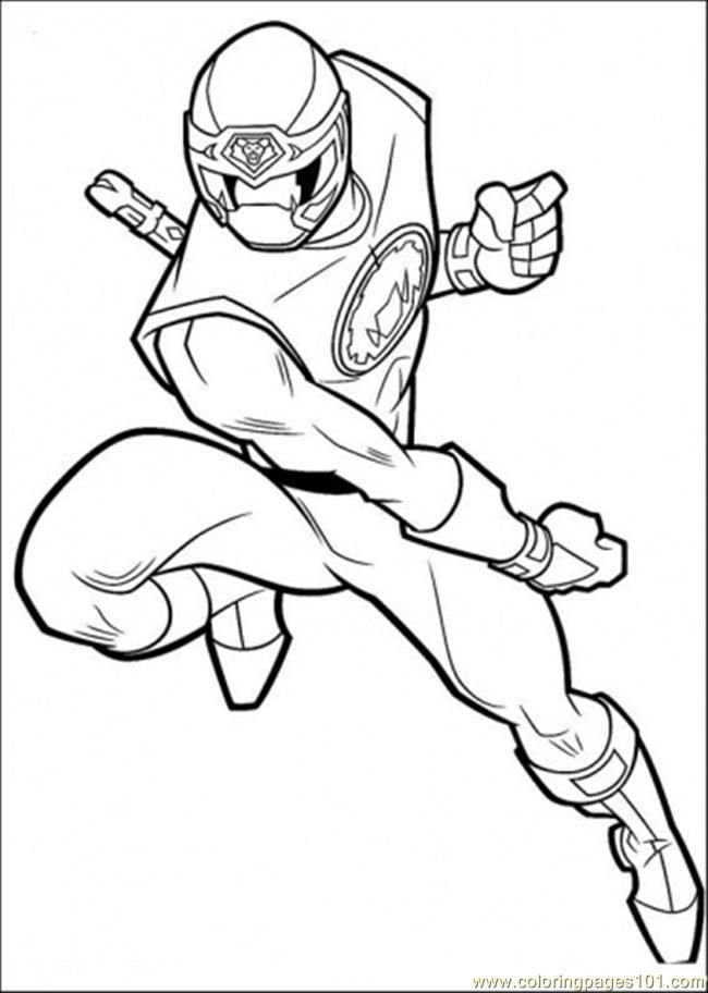 Black power ranger Colouring Pages