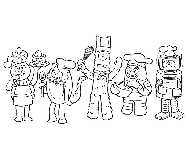 Yo gabba coloring pages az coloring pages for Yo gabba gabba coloring pages