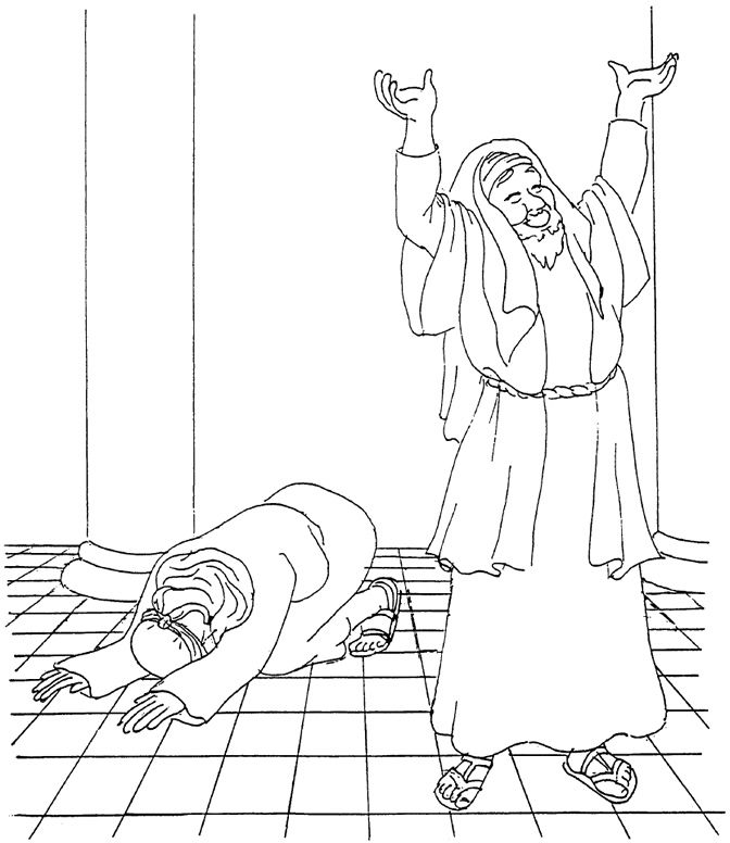 The Pharisee and the Tax Collector Coloring Pages